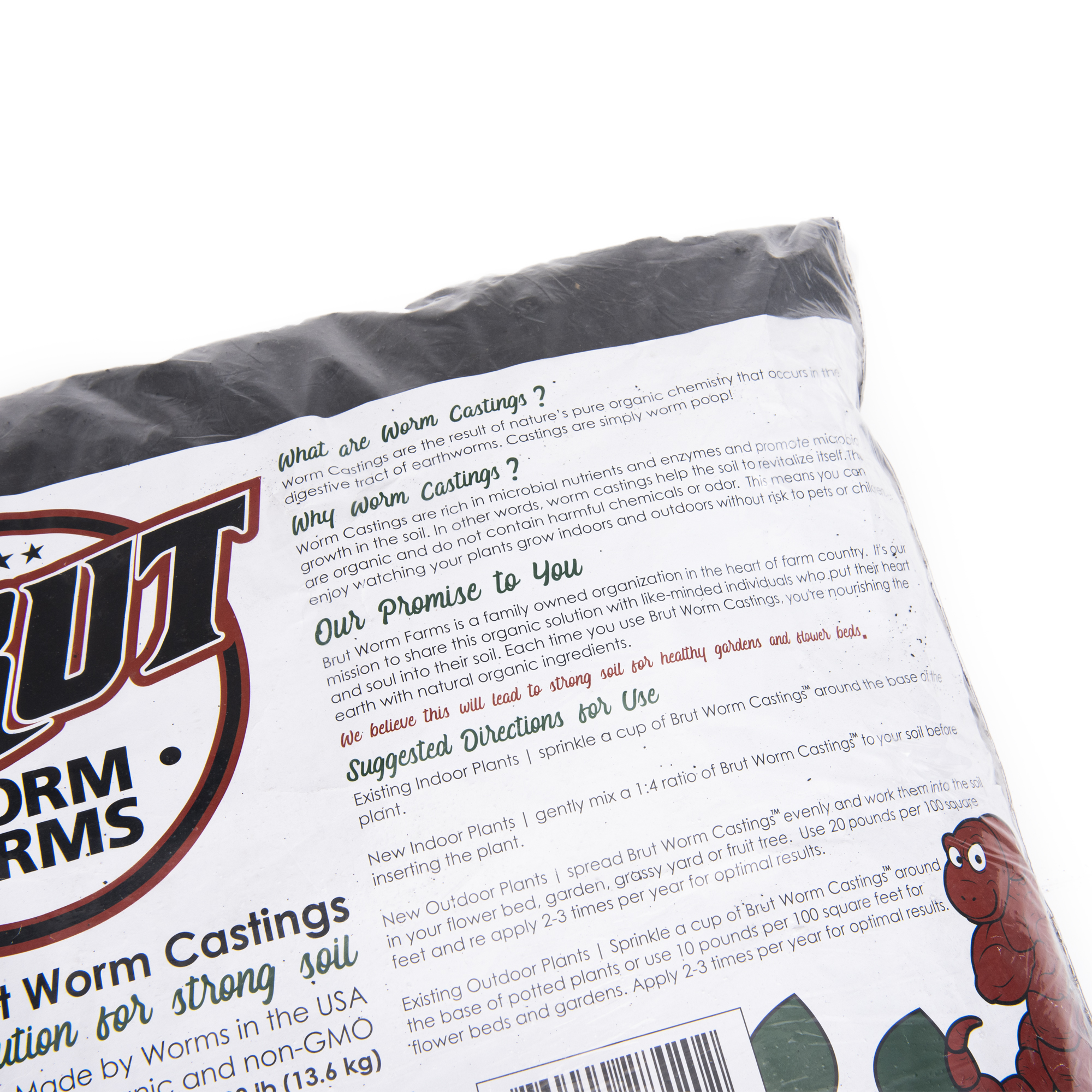 organic worm castings for sale | 30 lbs.  free shipping